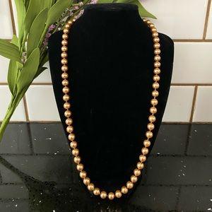 Vintage Chocolate/Bronze Pearl Necklace